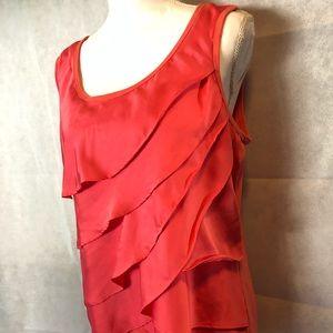 Light Coral Sleeveless Top